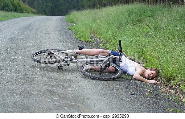 X 15 Crash Stock Photographs of Girl hurt crashing bicycle accident csp12935290 ...