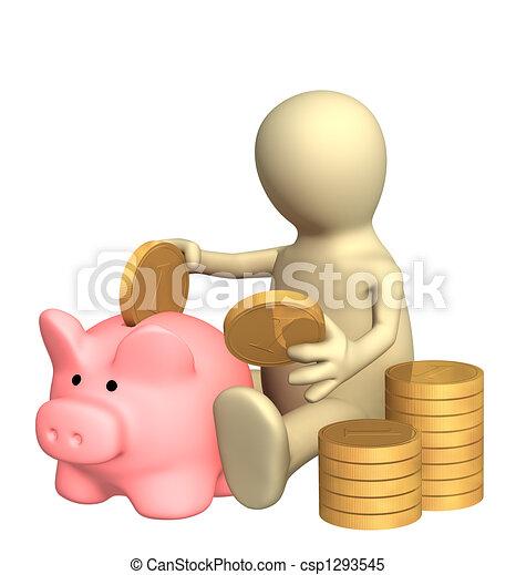 Piggy bank - csp1293545
