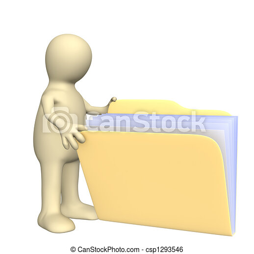 Puppet, opening  folder - csp1293546