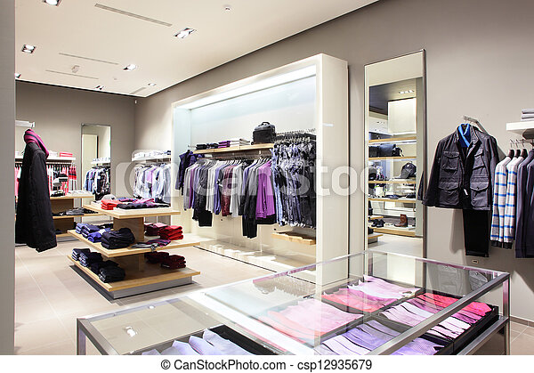 modern and fashion clothes store - csp12935679