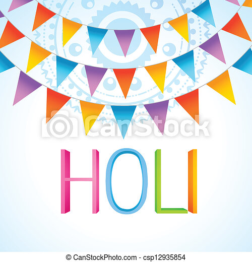 Festival Celebration Drawing Holi Festival Celebration