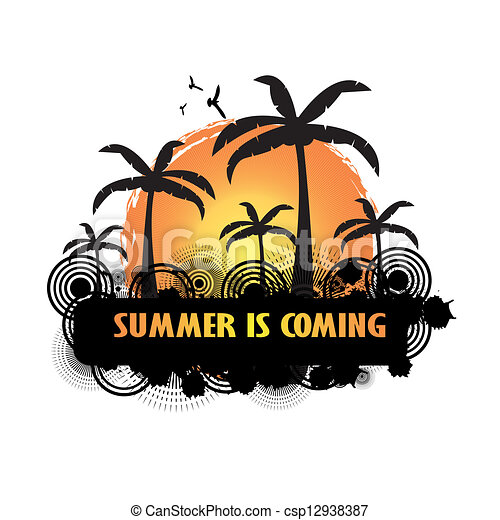 Summer tropical holiday background - csp12938387
