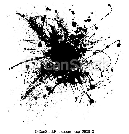 Ink Splatter Logo Ink Splatter One Csp1293913