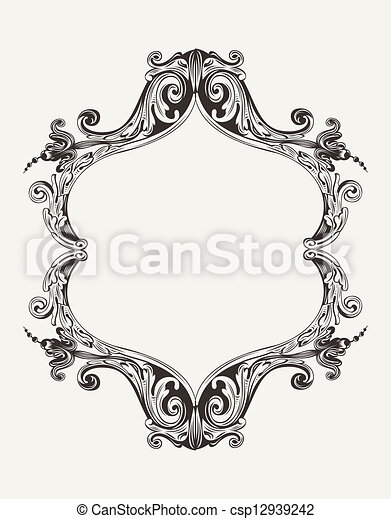Vector Antique Vintage Royal Frame - csp12939242