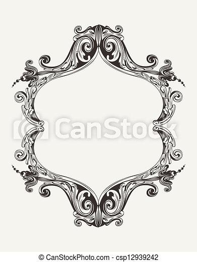 Vector Antique Vintage Royal Frame - csp12939242