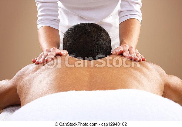 Man Massage - csp12940102