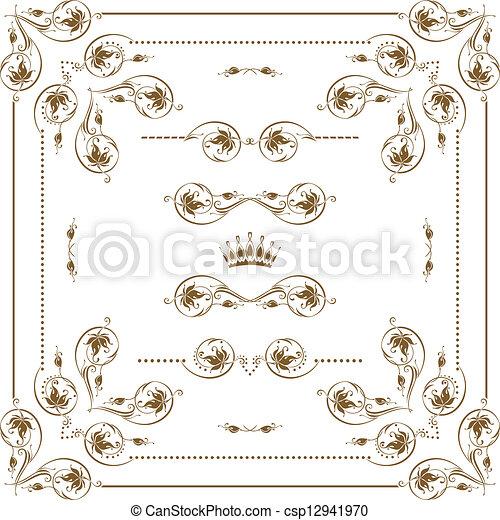 decorative frame - csp12941970