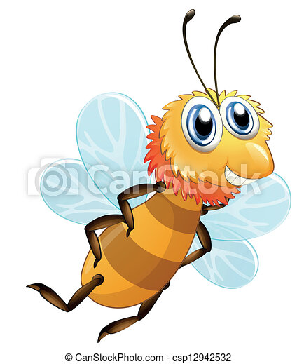 A bee smiling - csp12942532