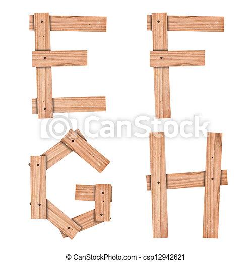 Clip art de coupure alphabet e f g h bois planche - Planche a dessin en bois ...