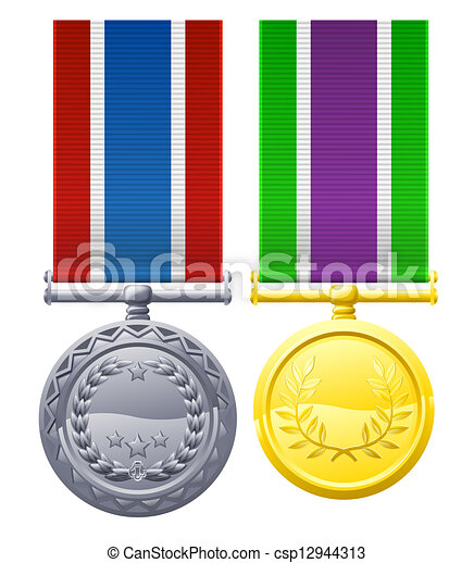 Military style medals - csp12944313