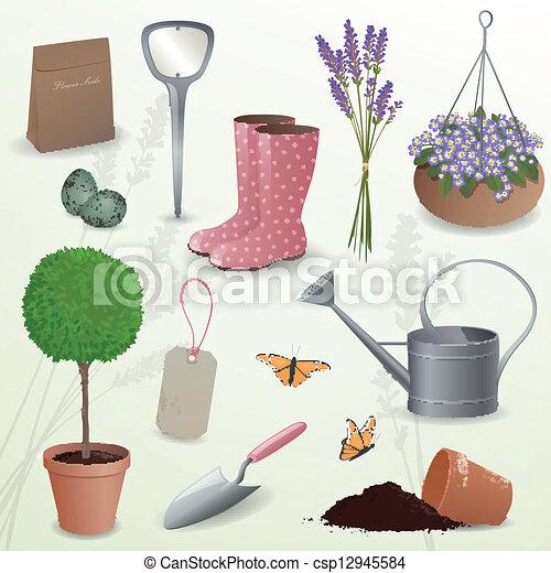 vector vector jardiner a elementos stock de