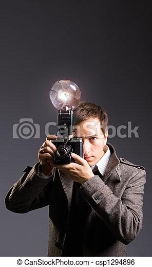 Retro photo journalist - csp1294896