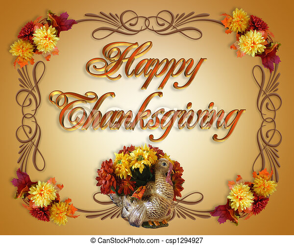 Stock Illustrations Of Happy Thanksgiving Card Image And Illustration Composition