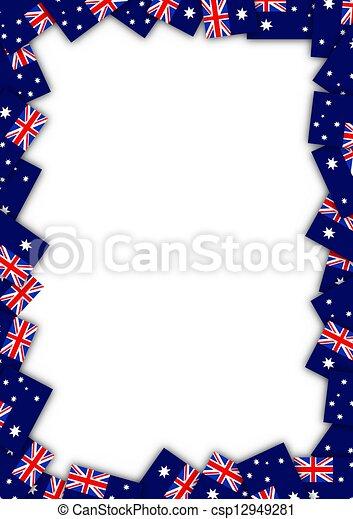 Australia flag border - csp12949281