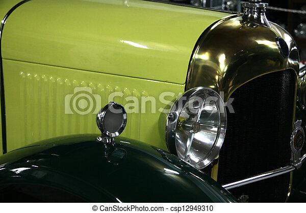 Vintage yellow automobile - csp12949310