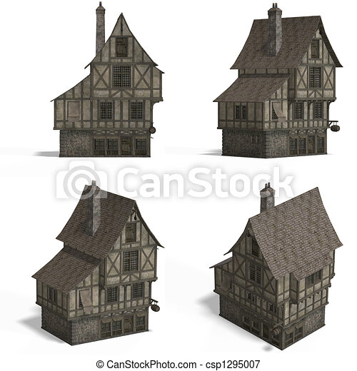 Medieval Houses - Bar - csp1295007