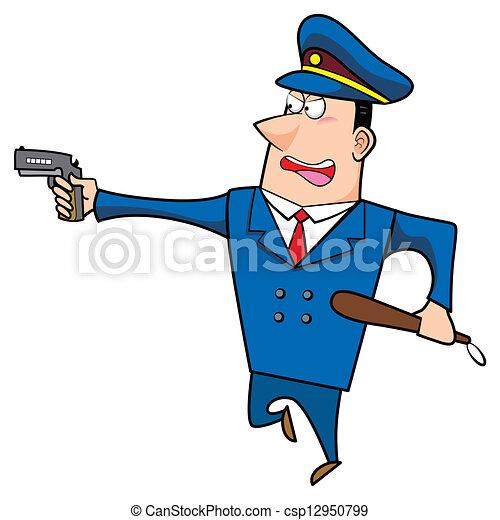 卡通漫画, 警察