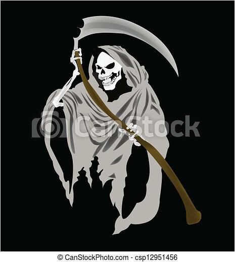 Grim Reaper Vector - csp12951456