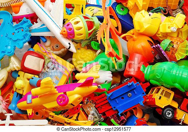hintergrund, Spielzeuge - csp12951577