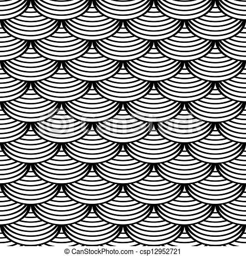 Fish Pattern Drawing Seamless 'fish Scale' Pattern