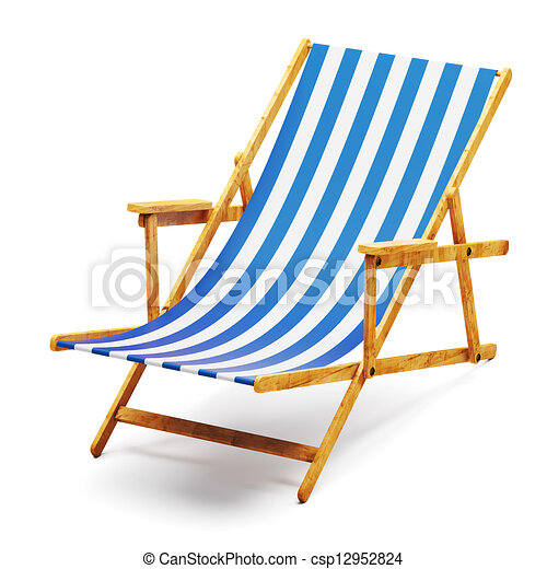 Clip Art of Modern beach chair csp12952824 - Search Clipart ...