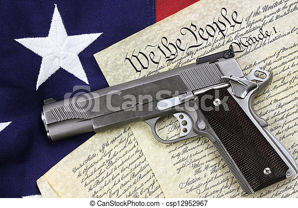 Gun and Constitution - csp12952967