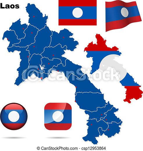 Laos vector set. - csp12953864