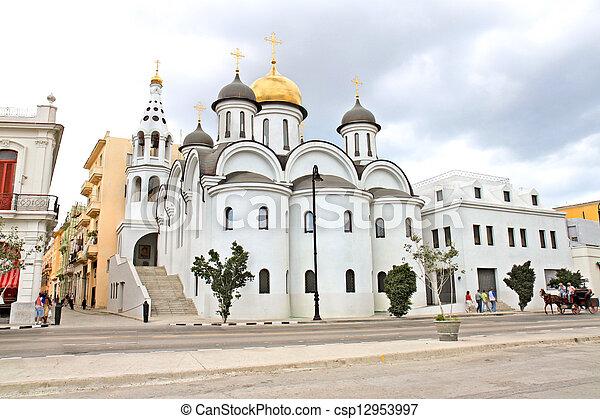 Stock Photographs of Russian orthodox church in Old Havana,Cuba ...