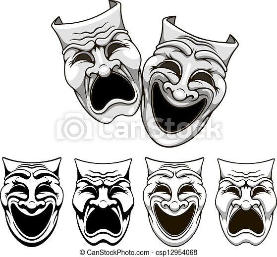 Comedy tragedy masks Illustrations and Clip Art. 1,312 Comedy ...