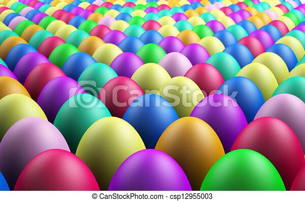 Endless Easter Eggs - csp12955003