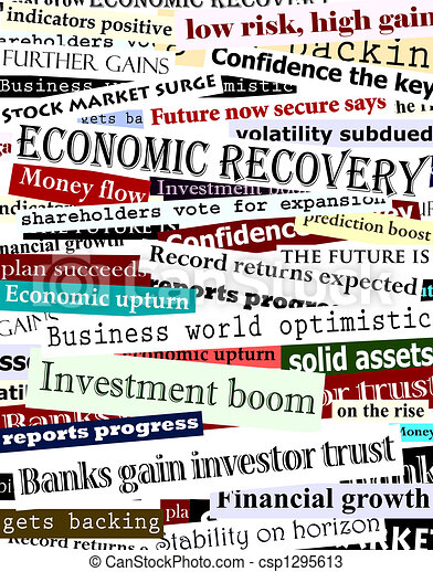 Financial recovery headlines - csp1295613