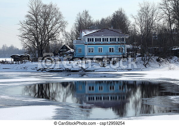 home on the bank  - csp12959254