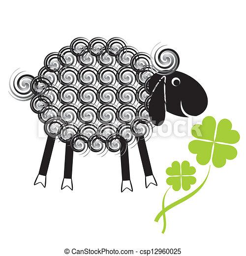 Illustration vecteur de mouton mignon peu peu mignon - Dessin tete de mouton ...