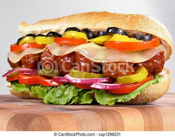 Meatball Sub Sandwich - csp1296231