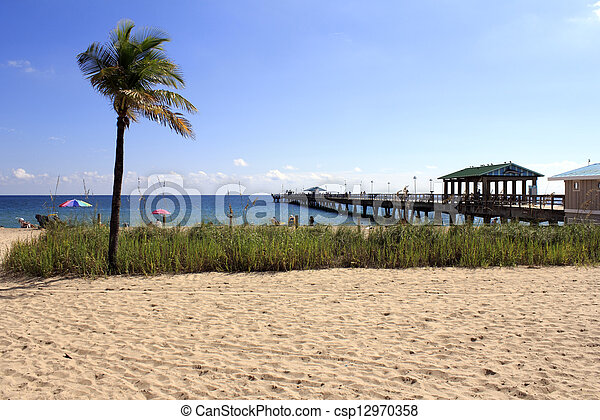 Stock images of lauderdale by the sea florida beach and for Florida free fishing days