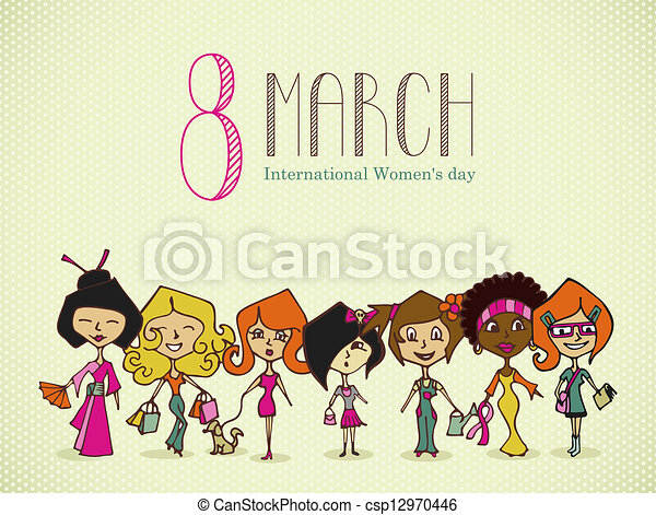 Diversity 8 march Women Day - csp12970446