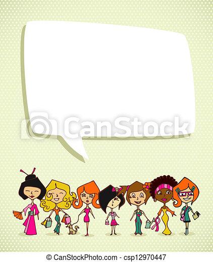 Diversity 8 march International Women Day - csp12970447