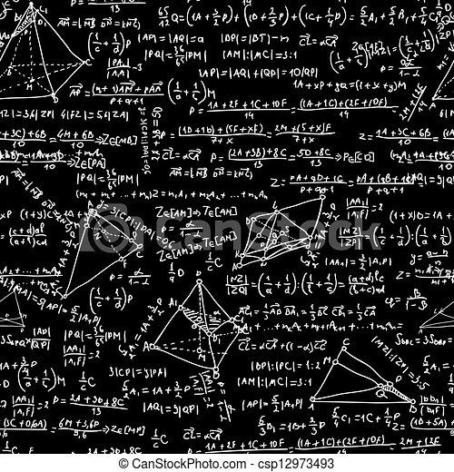 Maths seamless pattern. EPS 8 - csp12973493