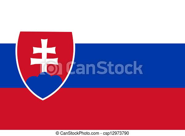 slovakia flag - csp12973790