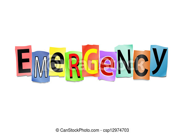 Emergency concept. - csp12974703