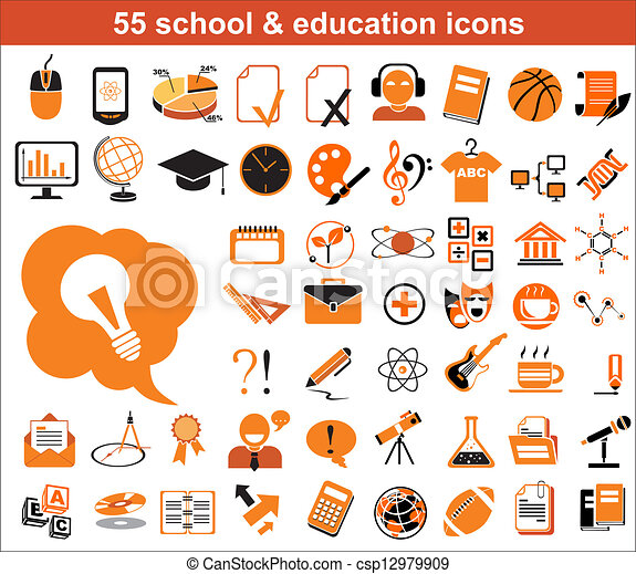 55 education icons - csp12979909