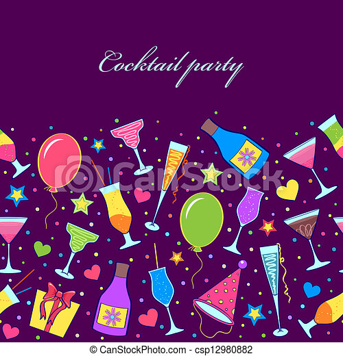 Cocktail Logo Vector Vector Cocktail Party