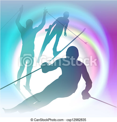Winter sports festive concept vector illustration - csp12982835