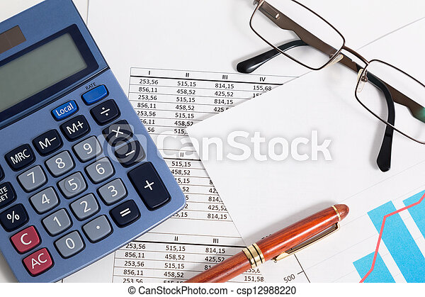 Business accounting and finance - csp12988220