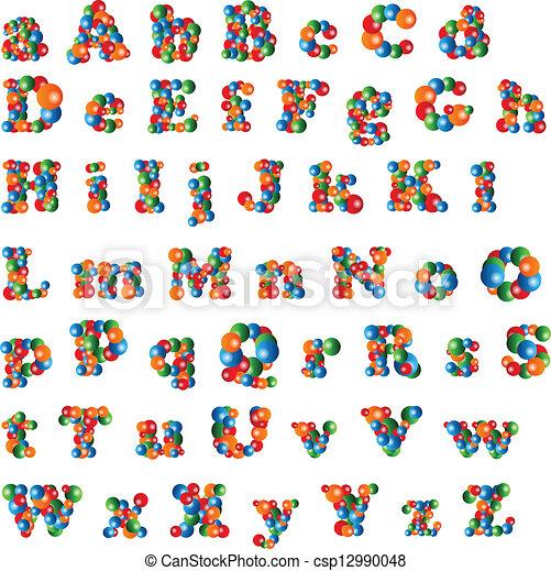 Bubble Alphabet - csp12990048