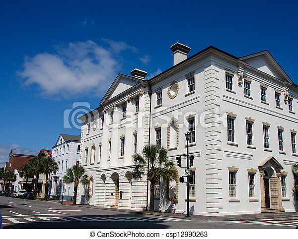 White Limestone Government Building - csp12990263