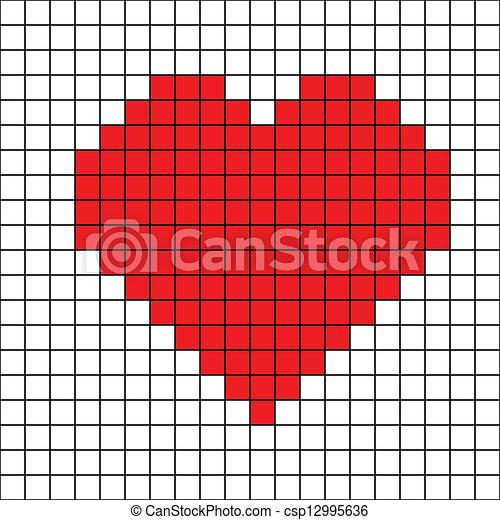 Cross Stitch Drawings Vector Cross Stitch Heart