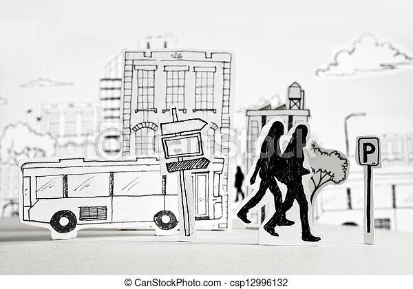 都市, ペーパー, 都市 - csp12996132
