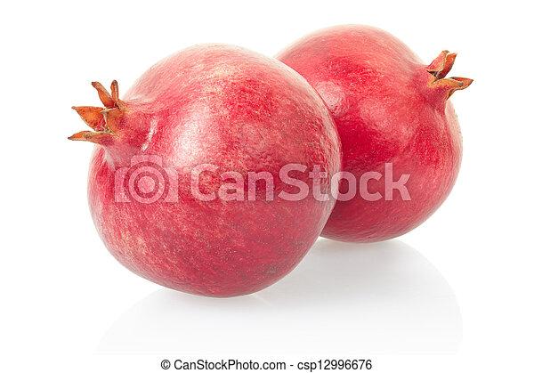 Pomegrante fruits on white - csp12996676