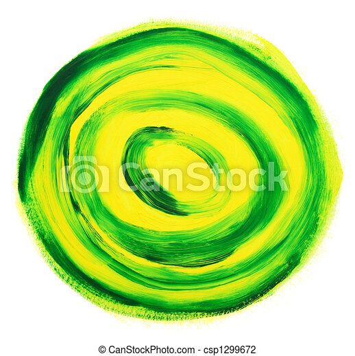 Oil-painted abstract target - csp1299672